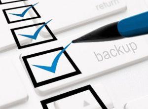 Backup checklist