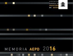 Memoria 2016 AEPD