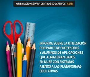 Informe AEPD sobre Apps escolares que almacenan datos en la nube
