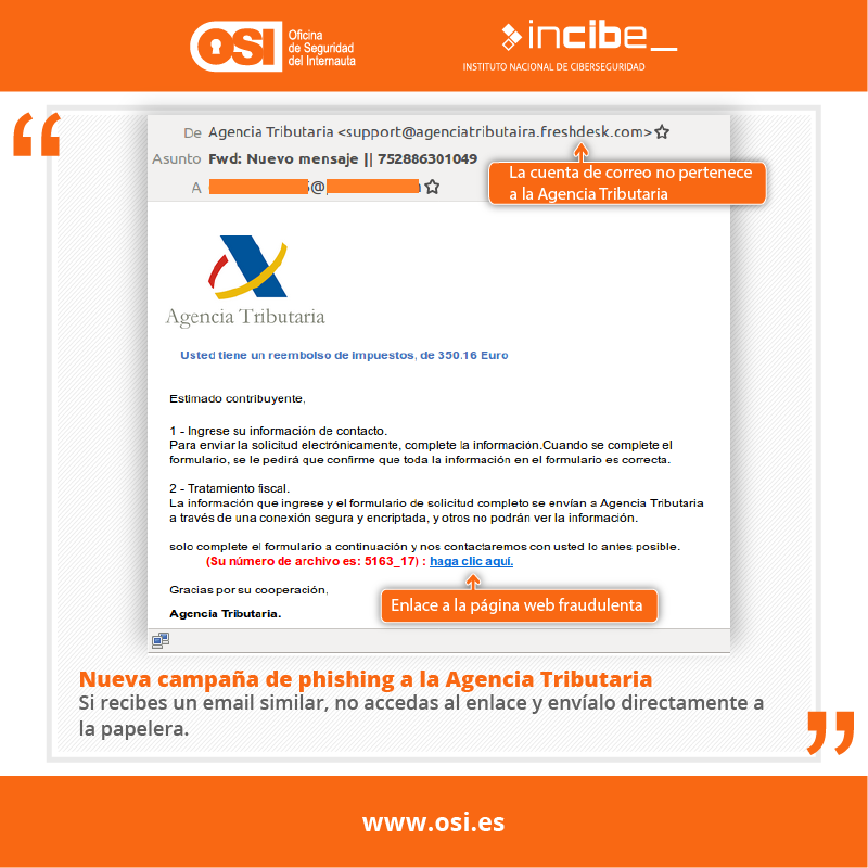 phishing con Hacienda