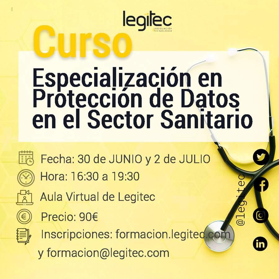 curso de protección de datos en el sector sanitario