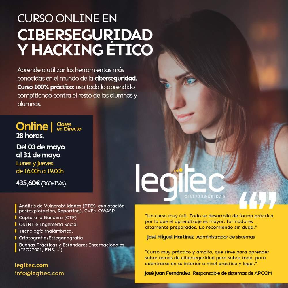 curso ciberseguridad y hacking ético