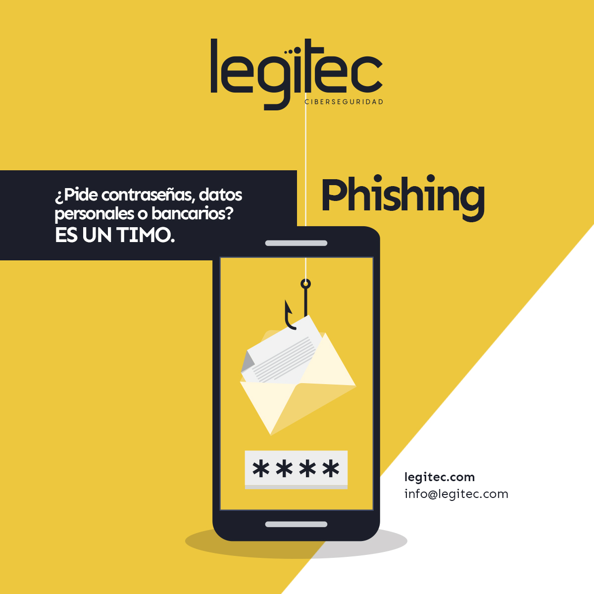 Si te piden datos es un timo de phishing